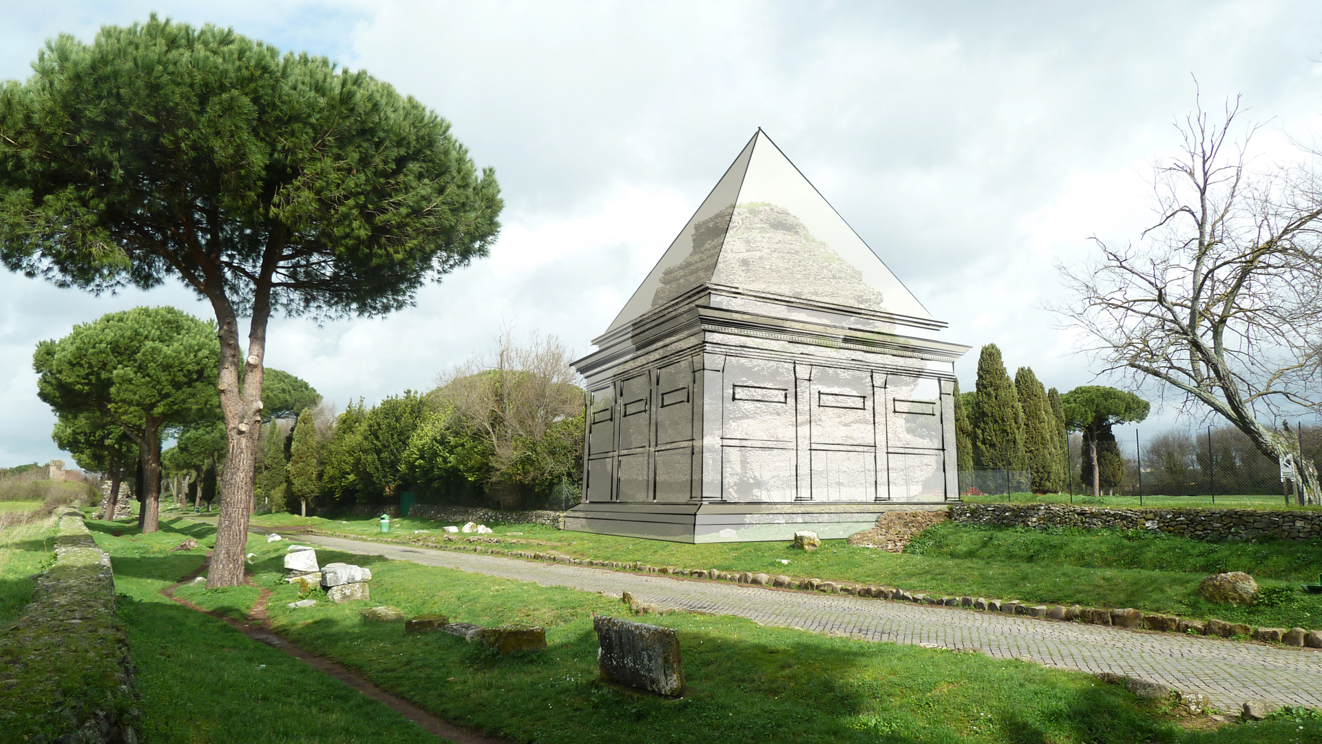 © RENS DE HOND - https://www.academia.edu/9051717/A_Pyramidal_Structure_along_the_Via_Appia_Documentation_and_reconstruction